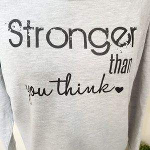 Inspirational quote longsleeve grey top